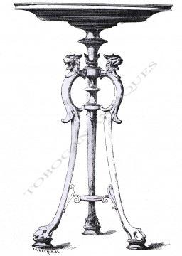 Table de milieu néo-Grecque Barbedienne Tobogan Antiques Paris antiquités XIXe siècle