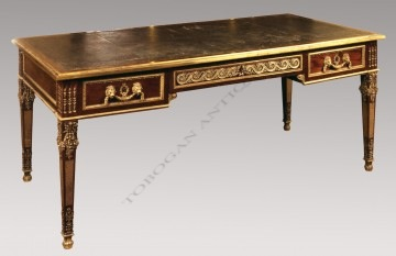 A louis xvi style bureau plat tobogan antiques for Bureau louis xvi