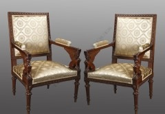 G. JacobPair of  Directoire style armchairs