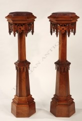 Pair of neo-Gothic stands