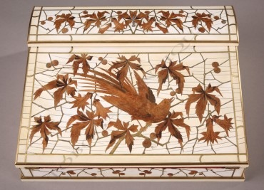 Ecritoire Japonisant Duvinage Giroux ivoire marqueterie objets Tobogan Antiques Paris antiquités XIXe siècle