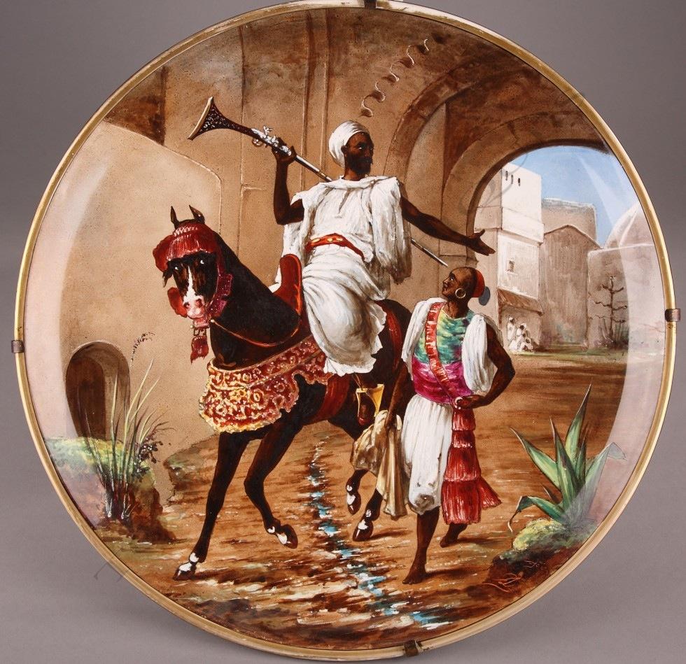Lebeuf, Milliet et Cie<br/> Plat Orientaliste