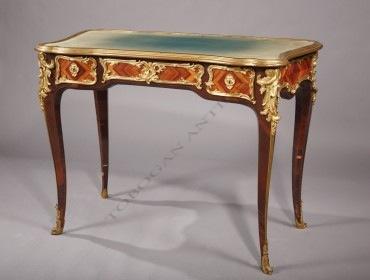 Bureau de style Louis XV Dasson Tobogan Antiques Paris antiquités XIXe siècle