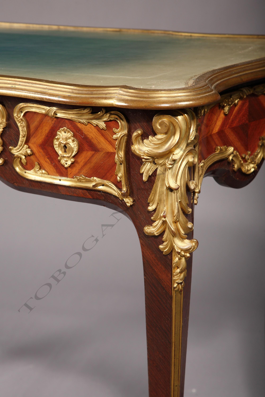 bureau de style louis xv dasson tobogan antiques paris antiquit s xixe si cle tobogan antiques. Black Bedroom Furniture Sets. Home Design Ideas
