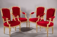 A. LevrauxSet of four armchairs