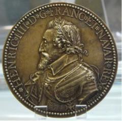 Médaille Henri IV-Tobogan-Antiques