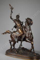 Fauconnier arabe à cheval  P.J. Mène et F. Barbedienne