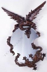 Miroir Japonisant Viardot objets Tobogan Antiques Paris antiquités XIXe siècle