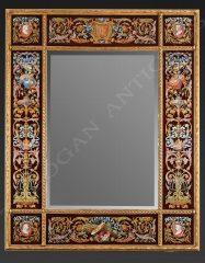 Miroir à parcloses en bois doré - Tobogan Antiques - Antiquaire Paris