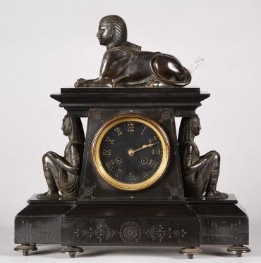 egyptian-marble-clock