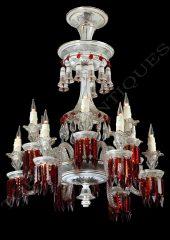 Rare lustre à cristaux  Baccarat