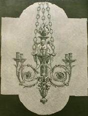 """Lustre """"arabesque à enfants musiciens"""" bronze Gouthière Vian Tobogan Antiques Paris antiquités XIXe siècle"""