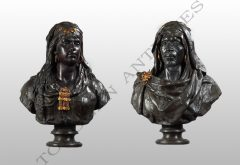 Pair of Orientalist Busts  G. Tadolini
