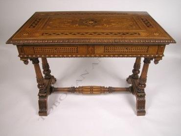 Table de milieu Cortina d'Ampezzo Tobogan Antiques Paris antiquités XIXe siècle