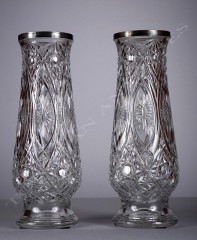 BaccaratPair of crystal vases