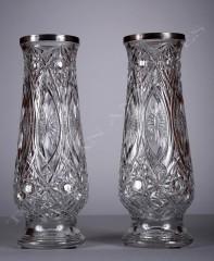 Baccarat Paire de vases en cristal