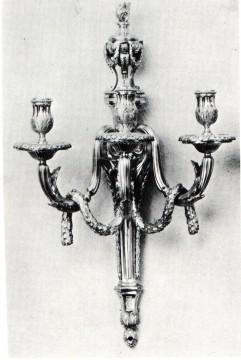 Paire d'appliques style Louis XVI bronze Tobogan Antiques Paris antiquités XIXe siècle