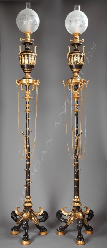 cahieux-barbedienne-pompeian-lamps