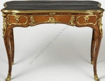 Bureau de style Louis XV Durand Tobogan Antiques Paris antiquités XIXe siècle