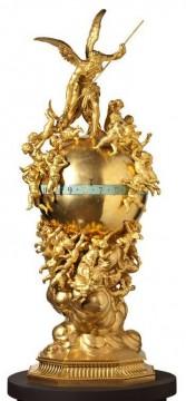 """Les quatre Eléments"" Lopienski bronze objets Tobogan Antiques Paris antiquités XIXe siècle"