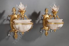 Delisle  Charming pair of Wall-lights