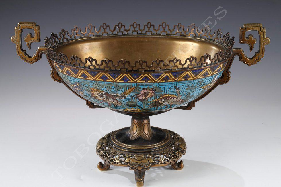 E. Cornu <br/> Cloisonné enamel bowl