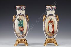 RSA Bellanger  Pair of Orientalist vases