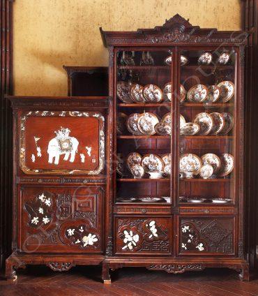 Cabinet japonisant - Attribué à Viardot - Tobogan Antiques - Antiquaire Paris