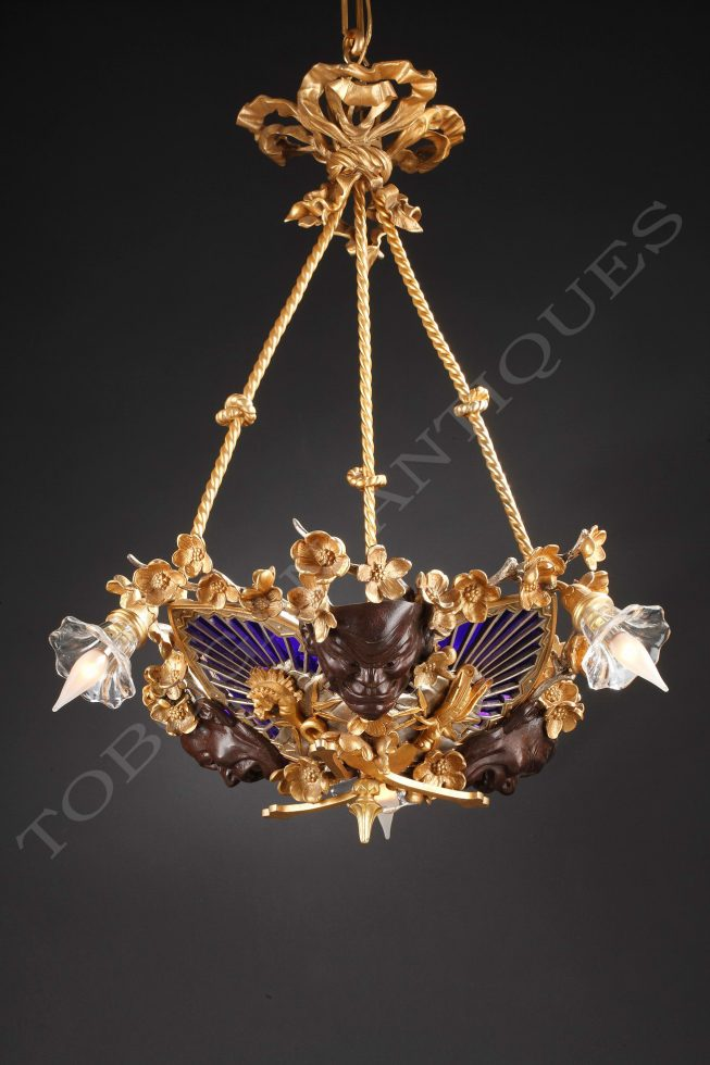 E. Soleau <br/> Japanese style Chandelier