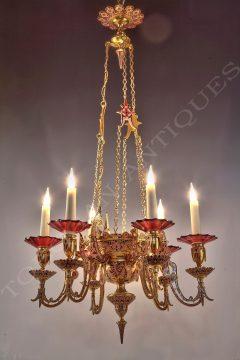 F. Barbedienne <br/> An oriental style chandelier