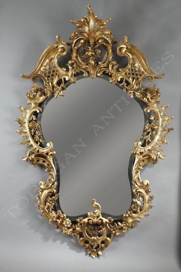 Miroir en bois doré - Tobogan Antiques - Antiquaire Paris