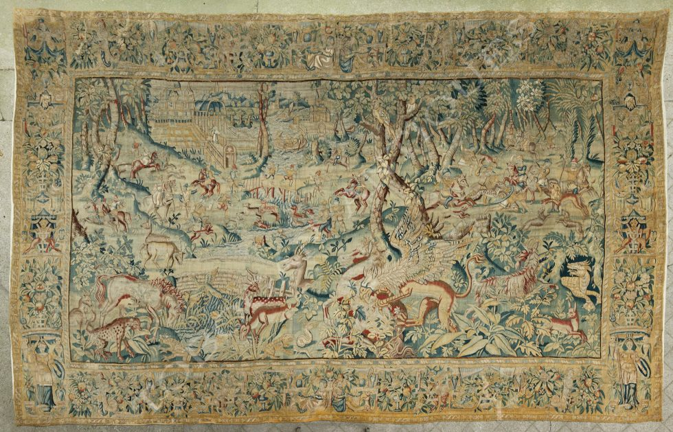 Brussels Manufacture <br/> Hunting scene with fantasy animals
