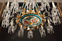 Baccarat  Opal glass chandelier