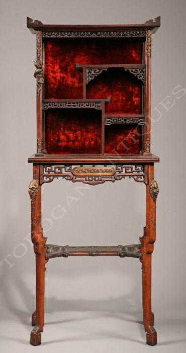 Table-étagère japonisante - Attribué à G.Viardot - Tobogan Antiques - Antiquaire Paris