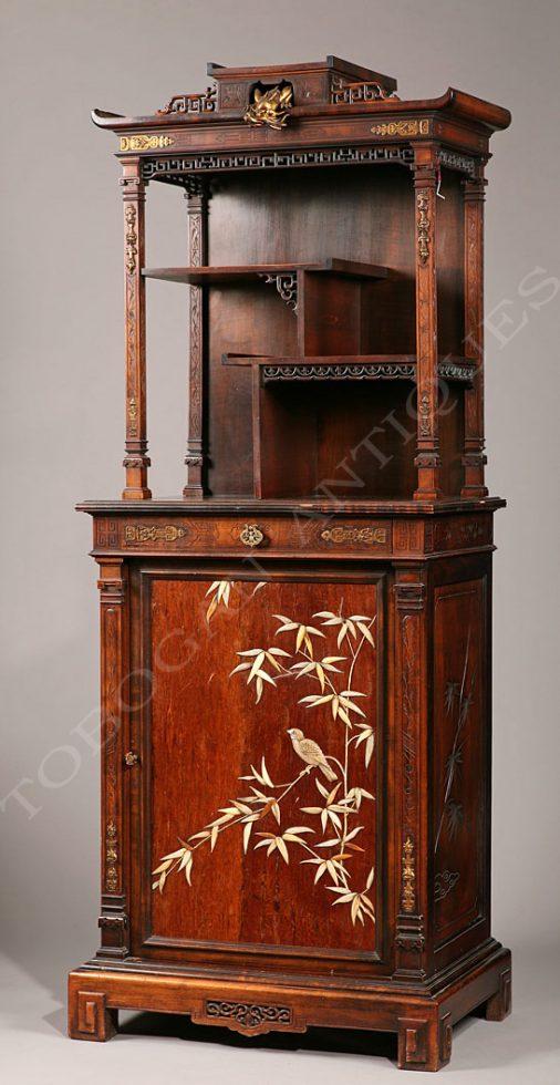 G. Viardot <br/> Aesthetic Movement Display Cabinet
