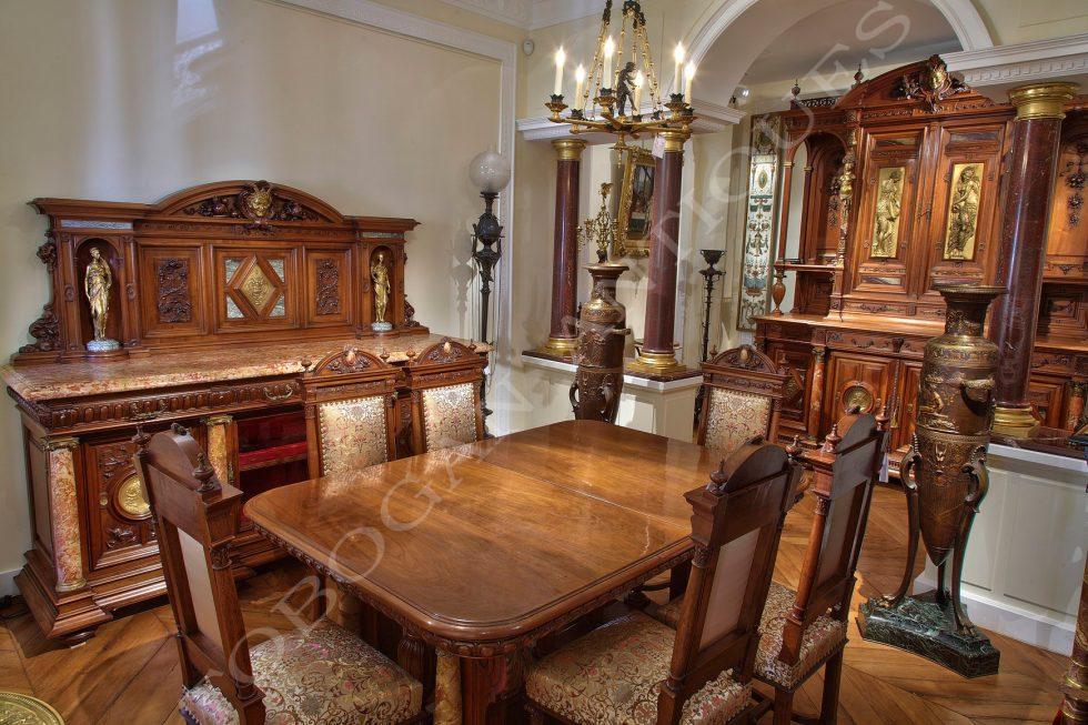 Meynard, Sévin, Barbedienne <br/> Important Dining Room Set