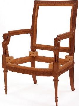 Paire de fauteuils de style Directoire Jacob Tobogan Antiques Paris antiquités XIXe siècle
