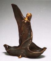 """Ch. Louchet Paire de vases """"aux danseuses Egyptiennes"""" bronze objets Tobogan Antiques Paris antiquités XIXe siècle"""