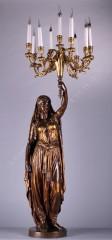 torchère Persane bronze Guillemin Tobogan Antiques Paris antiquités XIXe siècle