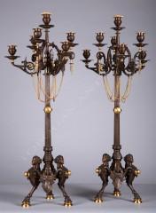 F. BarbediennePair of neo-Greek candelabra