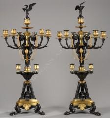 G. ServantPaire de candélabres néo-Grecs