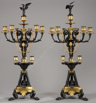 G. Servant<br />Paire de candélabres néo-Grecs