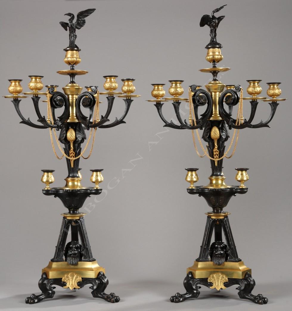 G. Servant<br />Pair of neo-Greek candelabra