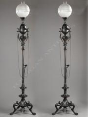 G. ServantPaire de lampes néo-Grecques
