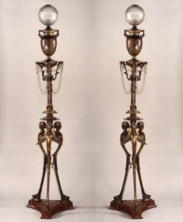 attr-h-cahieux-et-f-barbedienne-paire-de-lampes-neo-grecques