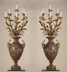 H. DassonPair of candelabras