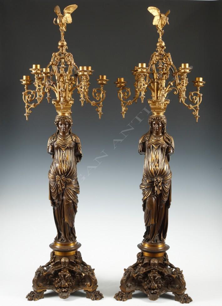 L.C. Sévin & F. Barbedienne<br />Paire de candélabres