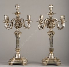 Pair of Louis XIV style candelabras