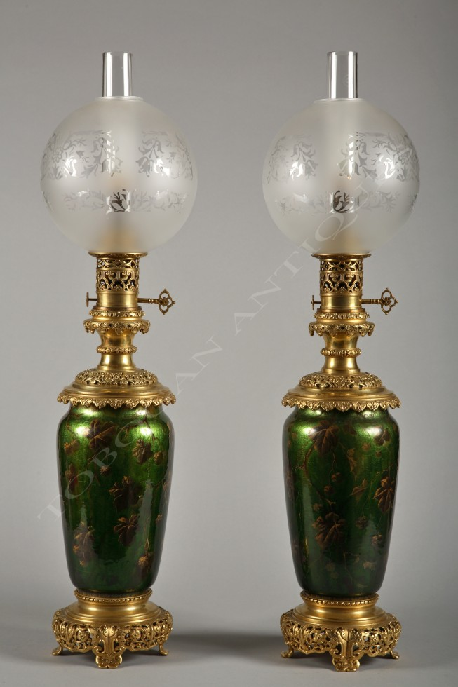 Pair of Napoleon III <br/> Lamps