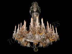 Crystal Manufacture of Baccarat  Large Chandelier